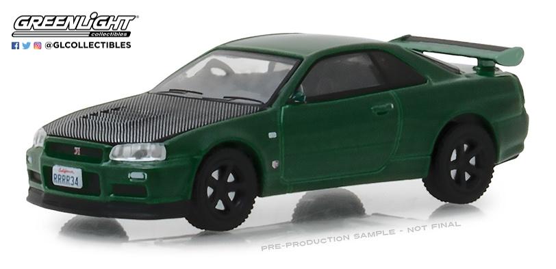 Nissan Skyline GT-R -R34- (2000) Greenlight 47010F 1/64