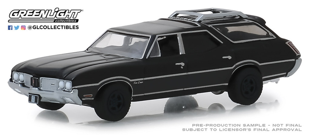 Oldsmobile Vista Cruiser Serie Black Bandit 21 (1970) Greenlight 1/64
