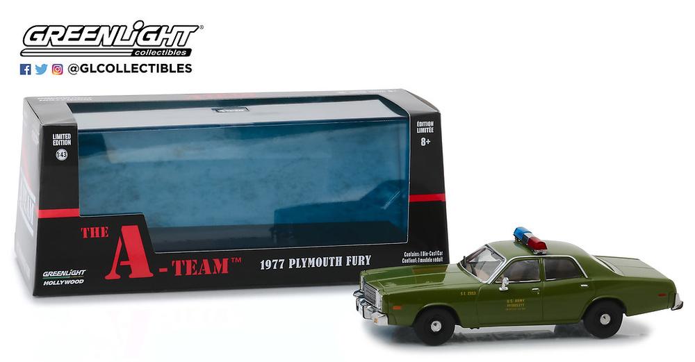 Plymouth Fury 1977 U.S. Policía (1967) Greenlight 1/43