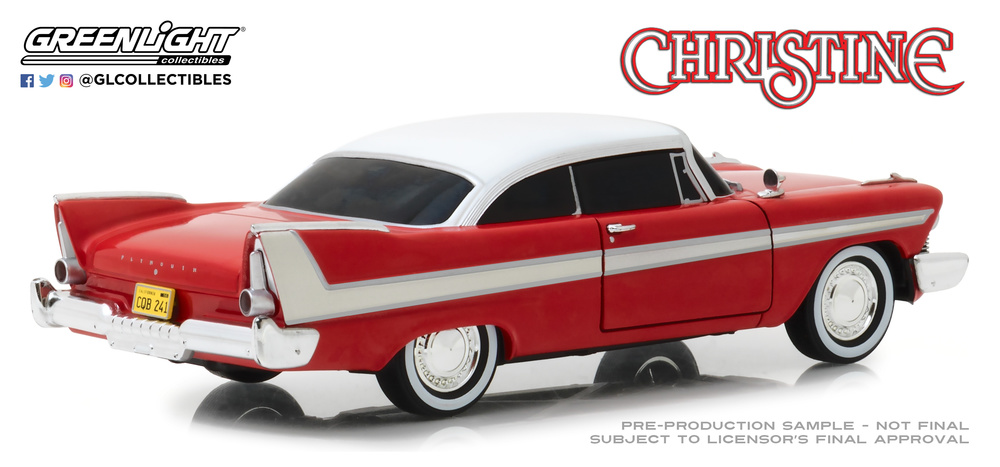 Christine 1958 Plymouth Fury Blacked out Windows 1:24 Greenlight 84082
