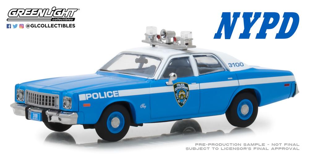 Plymouth Fury Policia de New York NYPD (1975) Greenlight 86535 1/43