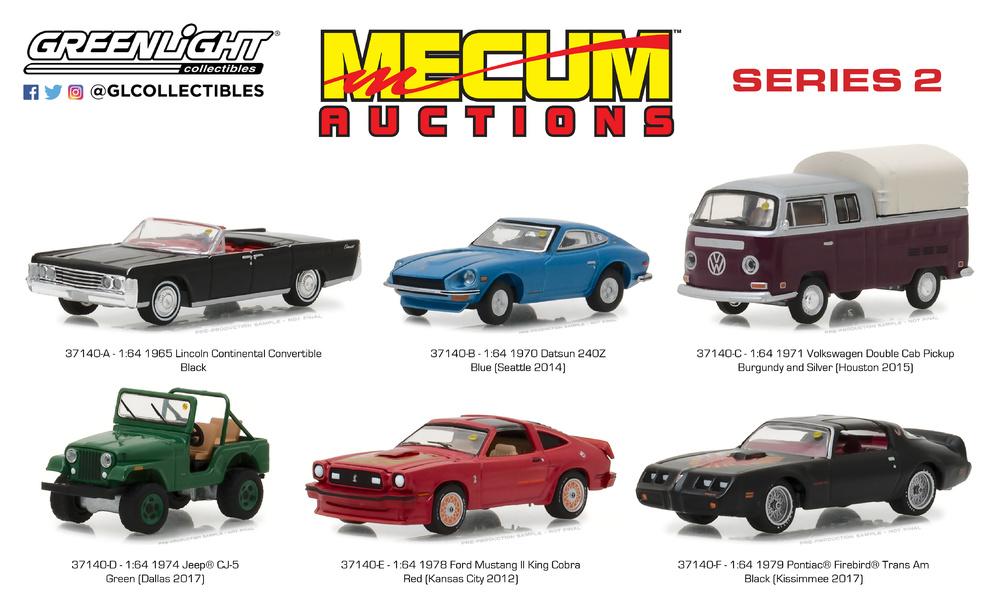 1970 Datsun 240Z  Blue *** Greenlight Mecum Auctions 1:64 OVP
