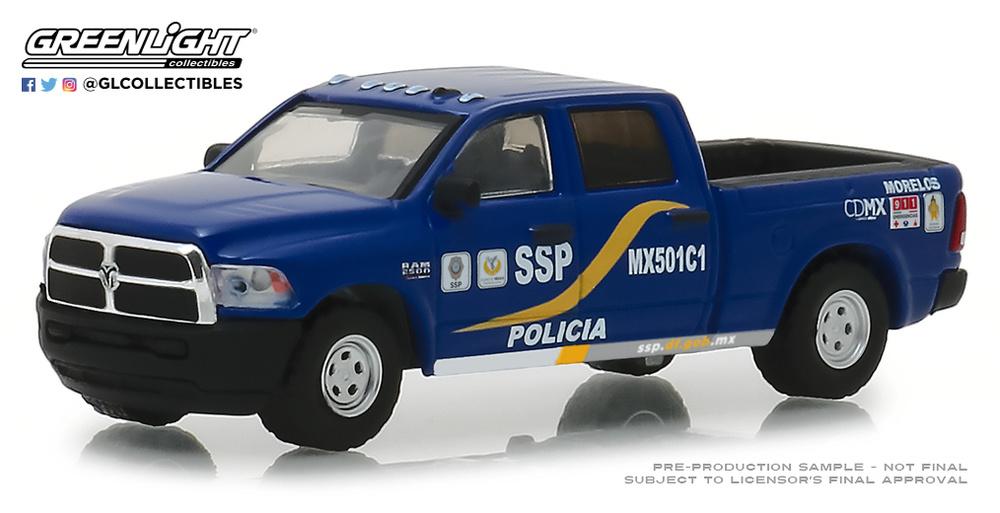 Ram 2500 Policía de la Ciudad de México (2017) Greenlight 1/64