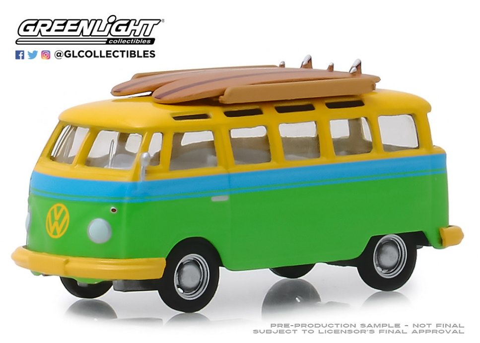 Volkswagen Samba con tabla de Surf (1964) Greenlight 1/64