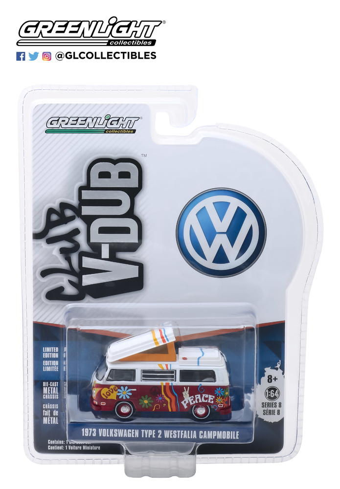 Volkswagen T2 Westfalia - Hippie (1973) Greenlight 29940C 1/64