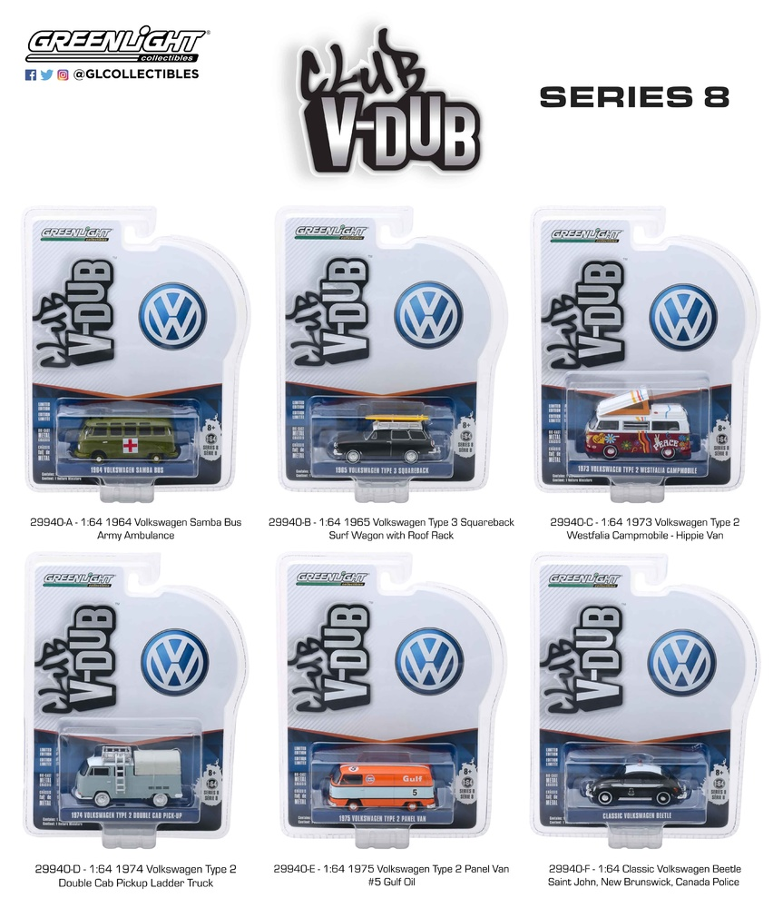 Club Vee-Dub serie 8 (2019) Greenlight 29940 1/64