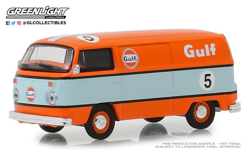 Volkswagen T2 nº 5 Gulf Oil Furgoneta (1975) Greenlight 29940E 1/64