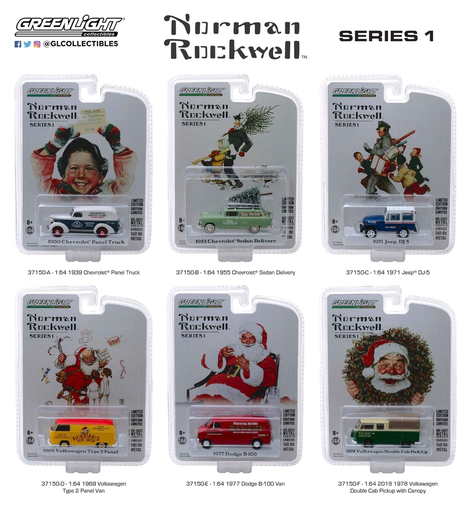 Norman Rockwell Delivery Vehicles Serie 1 (2018) Greenlight 37150 1/64