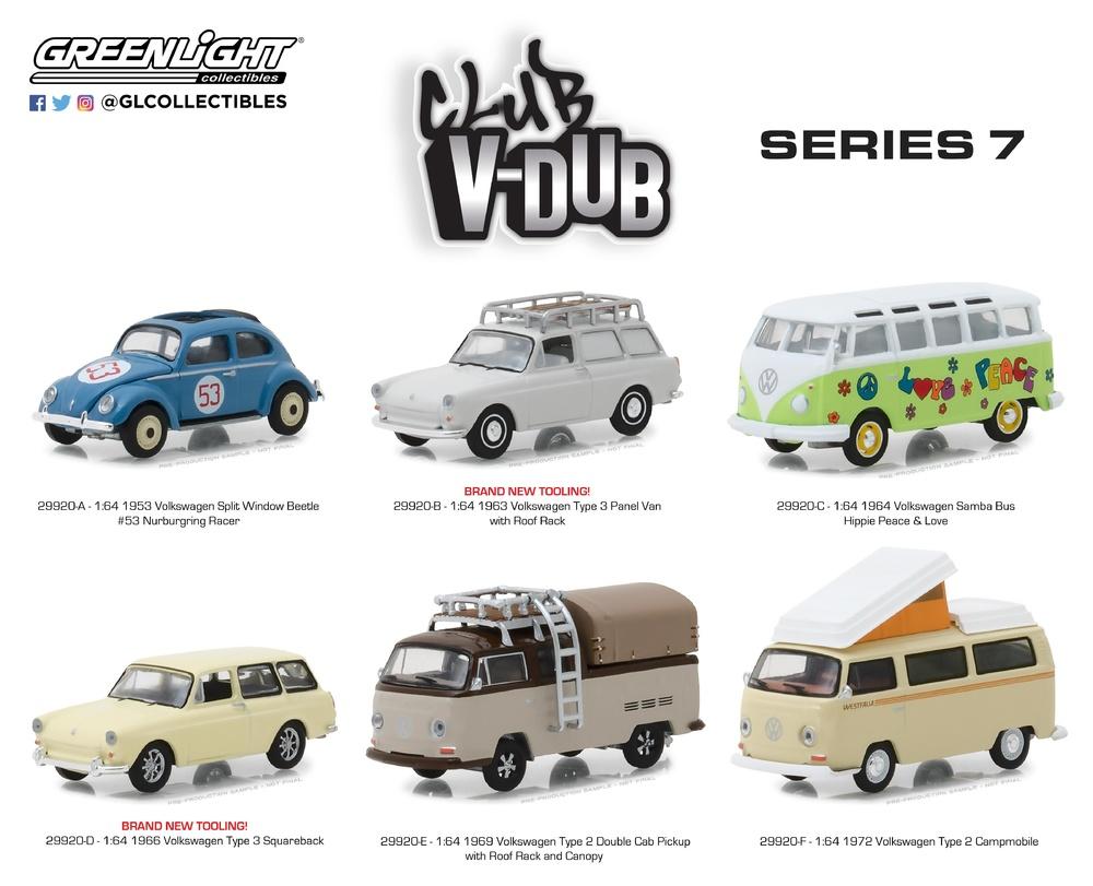 Volkswagen Tipo 3 Familiar (1966) Greenlight 29920D 1/64