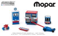 """Auto Body Shop - Conjunto de herramientas de taller """"MOPAR"""" Greenlight 1/64"""
