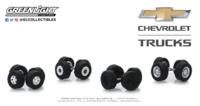"""Auto Body Shop - Conjunto de llantas y neumáticos Series 2 - """"Chevrolet Trucks"""" greenlight 1/64"""
