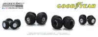 "Auto Body Shop - Wheel & Tire Packs Series 2 "" Kings of Crunch Goodyear"" greenlight 1:64"
