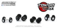 "Auto Body Shop - Wheel & Tire Packs Series 2 - ""Tokyo Torque"" greenlight 1:64"
