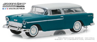 "Chevrolet Nomad 1955 - ""Turquesa y marfil"" Serie 3 State Wagons Greenlight 1/64"