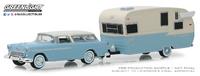 Chevrolet Nomad y caravana Shasta Airflyte con toldo (1955) Greenlight 1/64