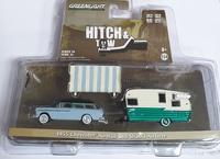 Chevrolet Nomad y caravana Shasta Airflyte con toldo (1955) Greenmachine 1/64