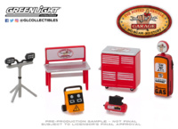 "Conjunto de herramientas ""Auto Body Shop Busted Knuckle Garage"" Greenlight 1/64"