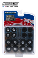"Conjunto de neumáticos ""Kings of Crunch"" Greenlight 1/64"