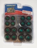 "Conjunto de neumáticos ""Kings of Crunch"" Greenmachine 1/64"