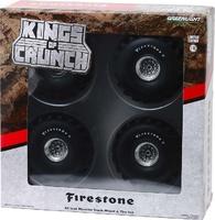 """Conjunto de ruedas y neumáticos de 66"""" para Monster Truck """"Firestone"""" Greenlight 1/18"""