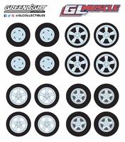 Conjunto neumáticos y llanta GL Muscle Greenlight 1/64