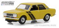 "Datsun 510 Trans-am ""Sahari con líneas negras"" (1972) Tokio Torque Greenlight 1/64"