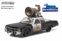 """Dodge Monaco - Bluesmobile with Horn on Roof """"The Blues Brothers"""" (1974) Greenlight 1:43"""