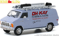 "Dodge Ram Van ""Oh-Kay Plumbing & Heating"" (1986) Greenlight 1/43"
