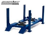 Elevador de Taller Azul con movimiento Greenlight 1/18