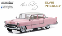 "Elvis Presley - 1955 Cadillac Fleetwood Series 60 ""Pink Cadillac"" Greenlight 1/18"