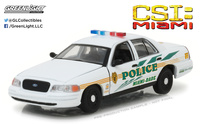"Ford Crown Victoria Policía interceptor de Miami-Dade ""CSI"" (2003) Greenlight 1/43"
