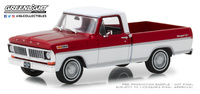 Ford F-100 - Candy Apple Red and Wimbledon White Metallic Greenlight 86318