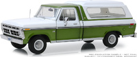 Ford F-100 Metallic Green with white panel box cover (1975) Greenlight 1:18