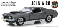 "Ford Mustang Boss 429 ""John Wick"" Highway 61 (1969) Greenlight 1/18"