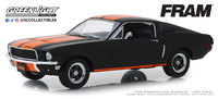 """Ford Mustang GT Fastback """"Filtros de aceite Fram"""" (1968) Greenlight 1/24"""