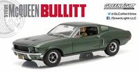 """Ford Mustang GT Fastback con figura """"Bullitt"""" (1968) GreenLight 1/18"""