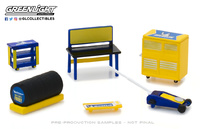 GL Muscle Shop Tools Michelin Tires Greenlight 1:64