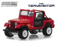 "Jeep CJ-7 Renegade ""Terminator"" Sarah Connor's (1983) Greenlight 1/64"