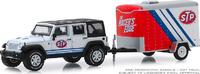 Jeep Wrangler con remolque STP (2015) Greenlight 1/64