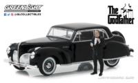 """Lincoln Continental """"El Padrino"""" con figura de Corleone (1972) Greenlight 1/43"""