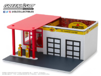"Mechanic's Corner Series 5 - Gasolinera vintage ""Pennzoil"" Greenlight 1/64"