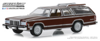 "Mercury Grand Marquis Colony Park ""Dark Chamois Metallic with Woodgrain"" (1980) Greenlight 1:64"
