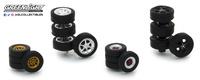 Neumáticos Tokio Torque con llanta Greenlight escala 1/64