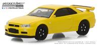 """Nissan Skyline GT-R - """"BNR34"""" (2001) Tokyo Torque Greenlight 1/64"""