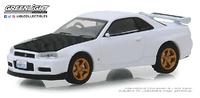 """Nissan Skyline GT-R """"BNR34"""" V-Spec II (2001) Greenlight 1/64"""