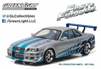 "Nissan Skyline GT-R -R34- ""Fast & Furious (1999) Greenlight 1/18"
