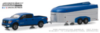 Nissan Titan XD Pro-4X con trailer Aerovault MKII (2018) Greenlight 1/64