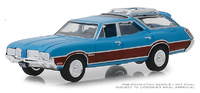 "Oldsmobile Vista Cruiser ""Azul Vikingo"" (1972) Serie 3 State Wagons Greenlight 1/64"