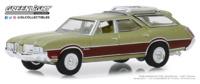 "Oldsmobile Vista Cruiser - ""Verde metalizado con paneles de madera"" (1971) Greenlight 1/64"