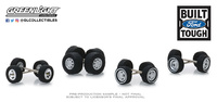 """Pack of tires and wheels """"Ford Trucks"""" Greenlight 1:64"""